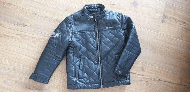 """Sprzedam kurtkę """"skórzaną"""" dla chłopca na wiosnę Next r. 110"""