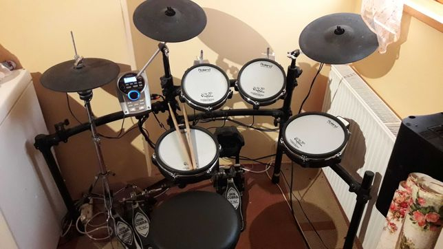 Perkusja elektroniczna Roland td 15kv + Tama Iron Cobra P900