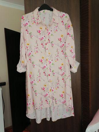 Sukienka tunika koszulowa
