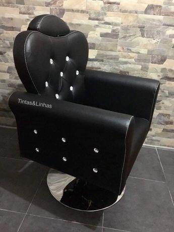 Cadeira de cabeleireiro, barbeiro ou maquilhagem, hidráulicas