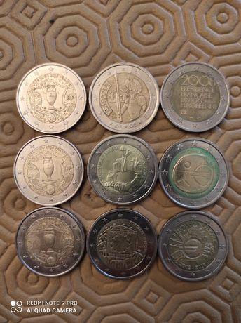9 moedas 2€ comemorativas