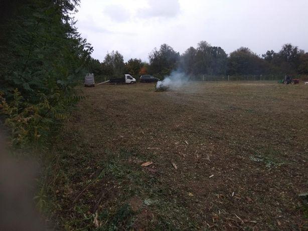 Koszenie trawy karczowanie koparka