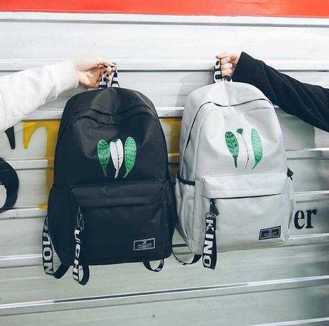 Трендовый школьный рюкзак для девочек со стильным принтом. 4 цвета