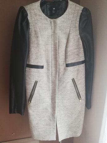 Płaszcz nowy h&m 36 skórzany