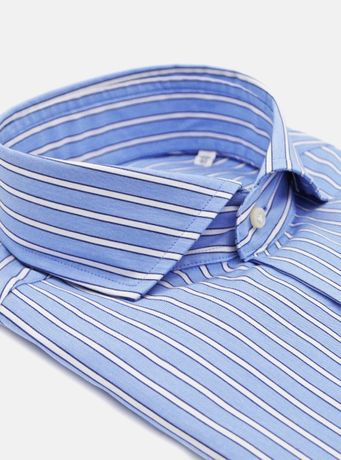 Мужская рубашка Striped Cotton Schirt WITH FRENCH COLLAR #39