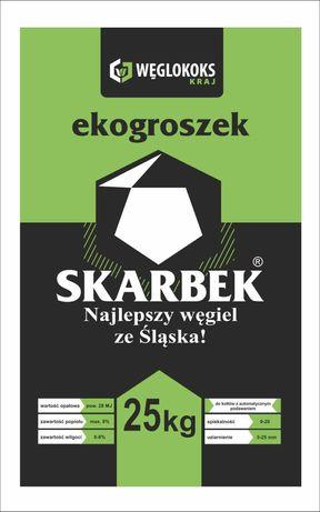 Ekogroszek Skarbek KWK BOBREK 28 MJ oryginalnie worki-dostawa gratis !
