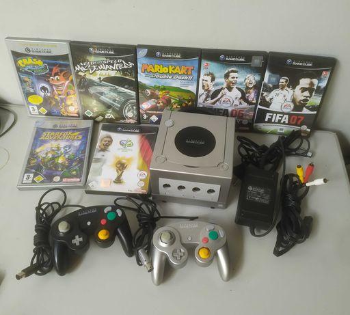 Nintendo Gamecube konsola 7 gier 2pady cały zestaw