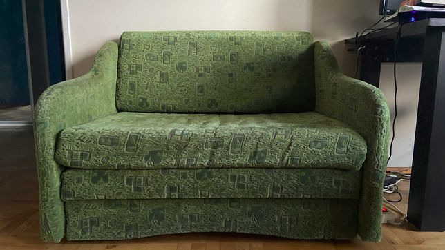 Sofa rozkładana z szufladą na pościel
