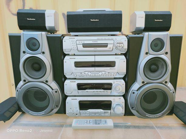 TECHNICS Ekstra Sprawna Kompletna Wieża Audio z Głośnikami EH760