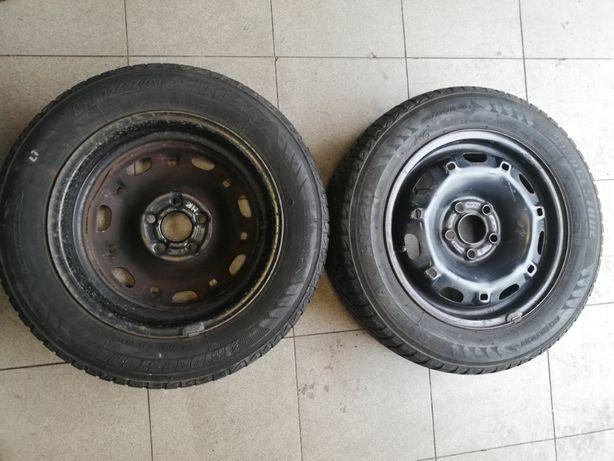 Koła Skoda Fabia 165/70 R14 + Bridgestone Blizzak LM-20, zima