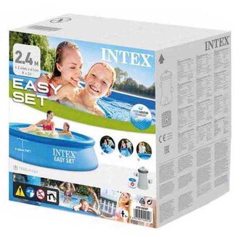 Piscina INTEX 244x61 C/Bomba e Filtro NOVA EM CAIXA SELADA