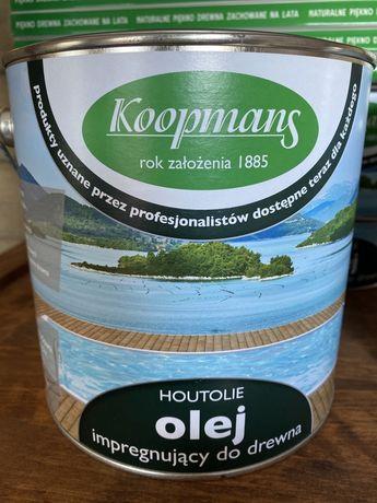 Olej impregnujący do drewna HOUTOLIE 2,5l. Koopmans.