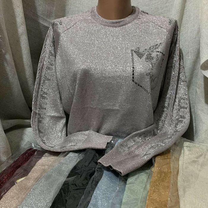 Люрексова кофточка, кофта, свитер, свитерок, свитшот Строинцы - изображение 1