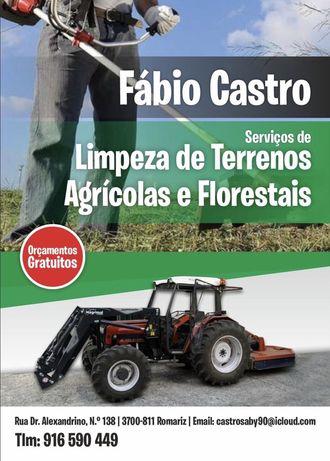 Limpeza de terrenos florestais e agriculas