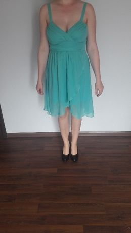 Sukienka w kolorze morskim OKAZJA