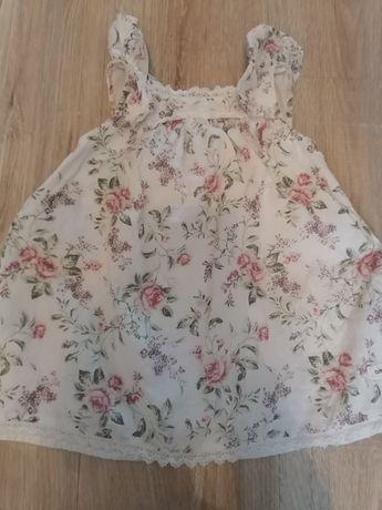 Sukienka w róże newbie 80 kapelusz gratis
