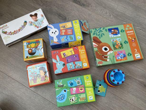 Развивающие игрушки для детей 1-2 лет.