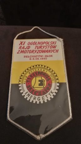 Proporczyk Klub motorowy PTTK Elektrownia Bełchatów 1990