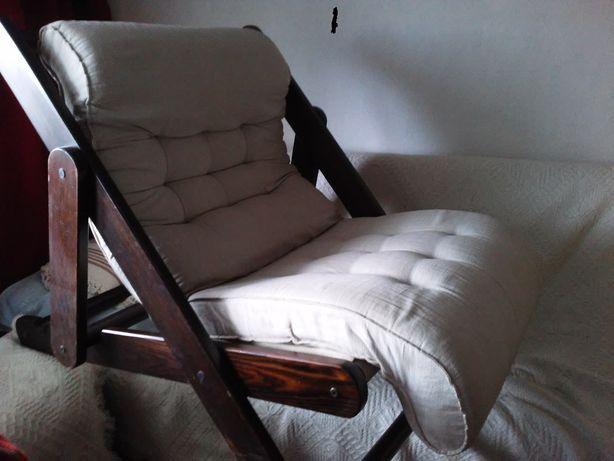 fotel eksportowy PRL KONTIKI jak leżak,2szt;Starogard-transport gratis