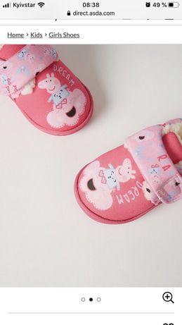 Обувь тапочки пеппа 23размер