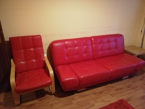 Sofa i 2 fotele - skóra
