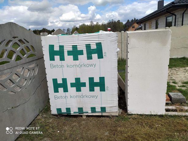 H+H bloczki pełna paleta i 15 szt luzem