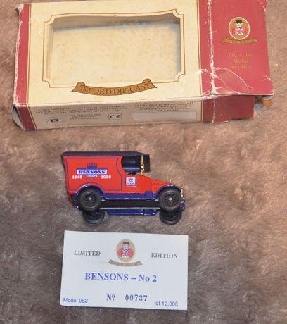 Oxford Die Cast Kolekcjonerski samochodzik metalowy Bensons Retro UK