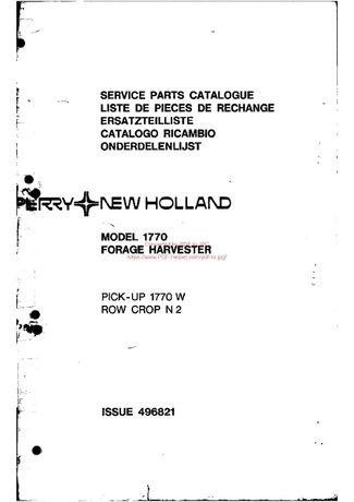 katalog części Sieczkarnia Forage Harvester 496821