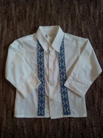 Белая рубашка вышиванка