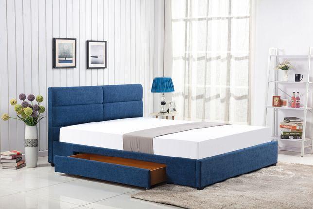 Łóżko 160 z szufladą MERIDA niebieskie NOWE