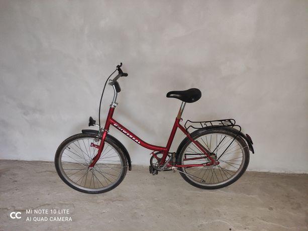 Rower Miejski Uniwersal 24' składak Czerwony