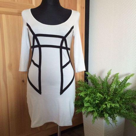 Sukienka gina tricot S geometryczna bodycon wiosna