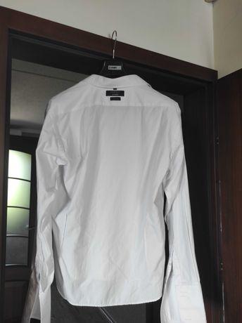 Koszula biała Pawo spinki mucha poszetka