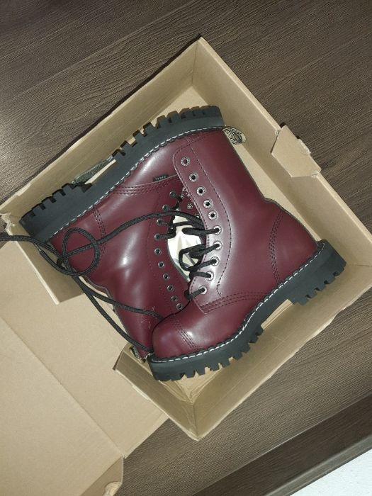Берцы, ботинки на шнуровке, Стилы, Steel бордовые оригинальные Одесса - изображение 1
