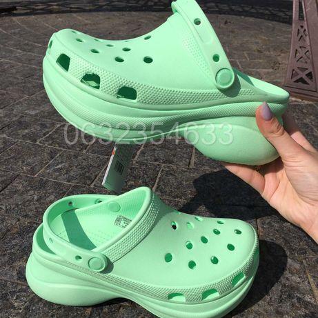 Женские кроксы сабо обувь на высокой платформе Crocs classic Bae Clog!