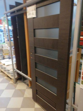 Nowe drzwi DRE 80-tki lewe kolor wenge