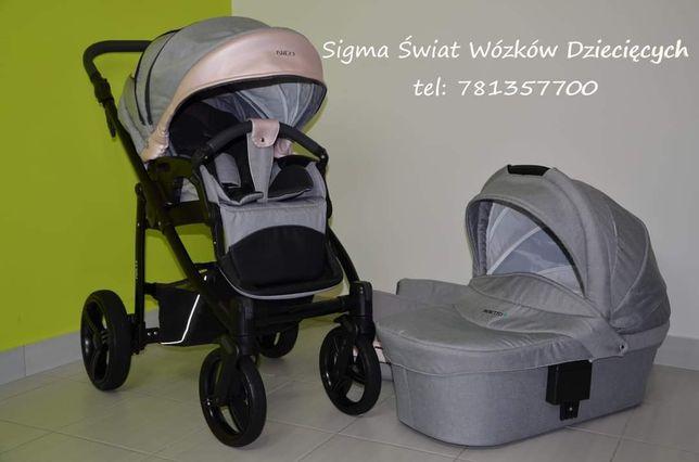 Piękny i niespotykany wózek bebetto Nico shine w pięknym kolorze 2w1