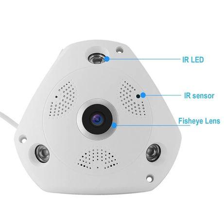 Панорамная потолочная Видеокамера DVR WIFI, microSD