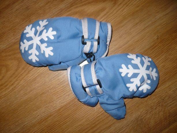 Перчатки зимние детские на 1,5-2 года голубые