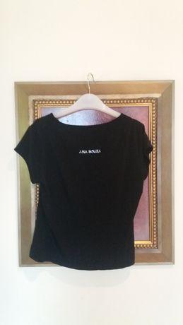 Ana Sousa t-shirt preto/diamente Tam L (vestir M)