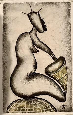 Quadro de artista Angolano