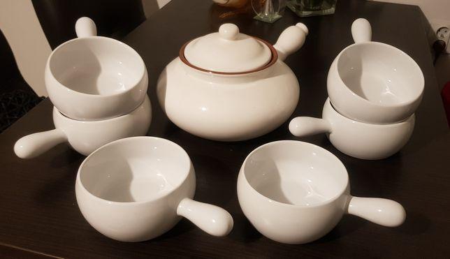 Zestaw ceramicznych naczyń żaroodpornych