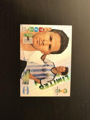Karta limited edition Messi world cup brasil 2014