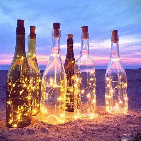 Świetne 10 metrów światełek o ciepłej barwie. Dwie sztuki