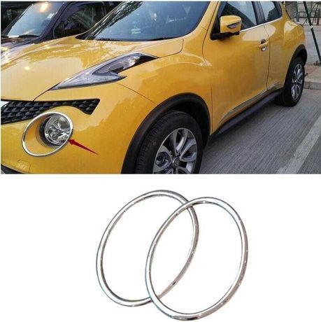 Nissan Juke oring pierścień chrom abs kółka ozdobne NEW