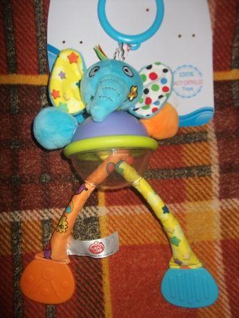 игрушка-погремушка, грызунок, шуршалка в коляску