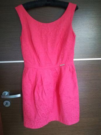 Sukienka na wesele imprezę 36 S mini różowa Pretty Girl bombka