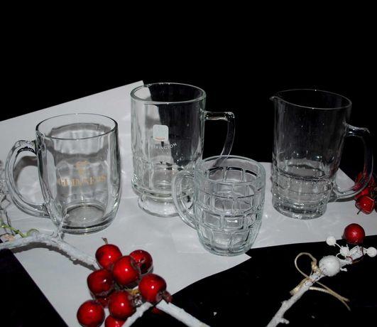 Стаканы пивные бокалы  маленький большие 0,5 0,33 набор посуда стекло