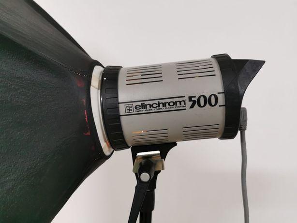 Flash Elichrom 500w cabeças de luz estúdio