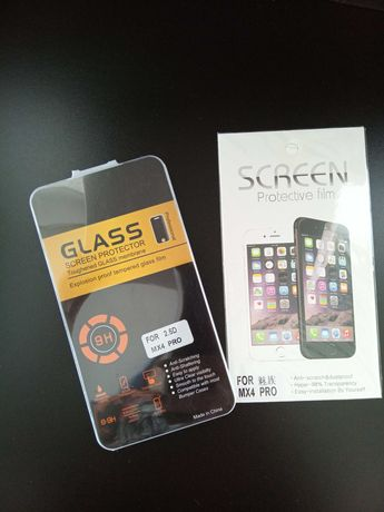Защитное стекло для Meizu MX4 Pro (Glass Screen) + Защитная пленка
